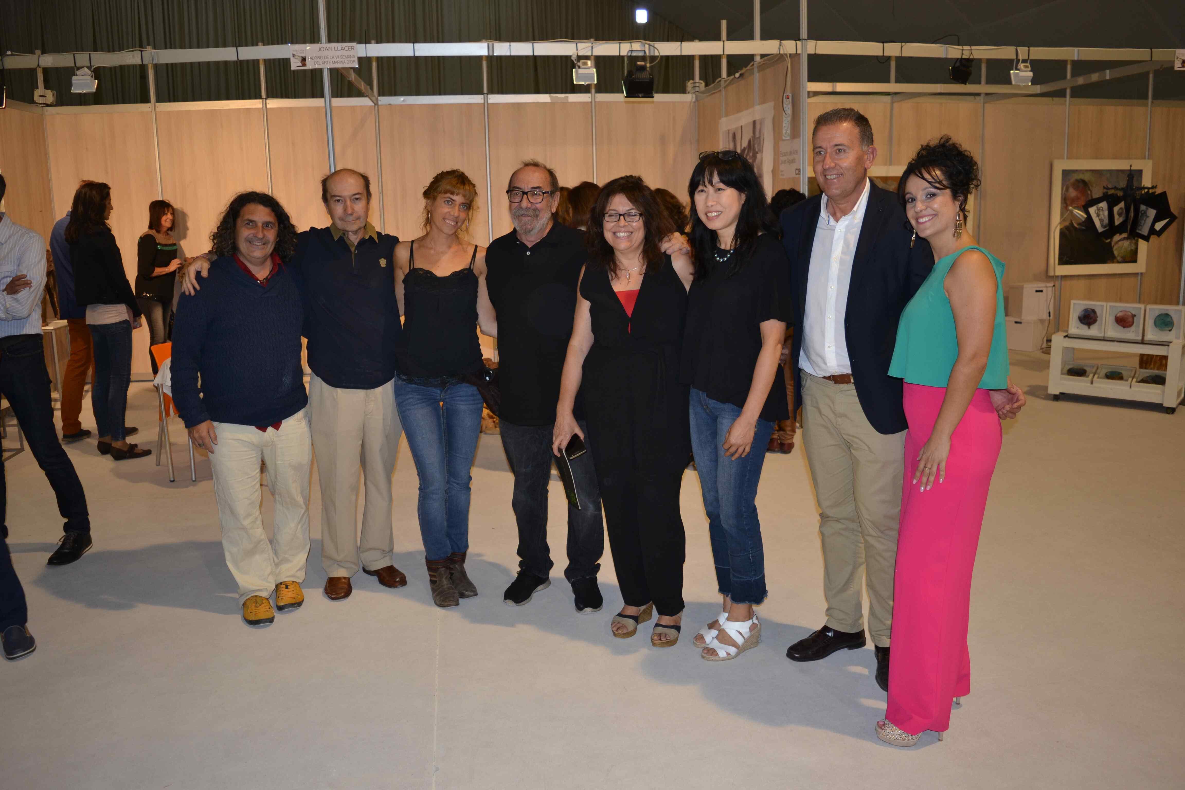 El grupo Artia con Vicent Sales y Patricia Mir